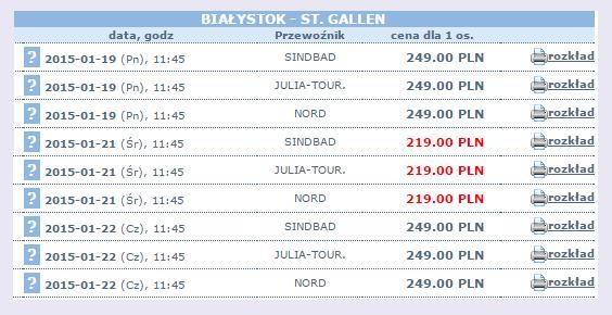 busy do St. gallen, tanie bilety autokarowe do Szwajcarii